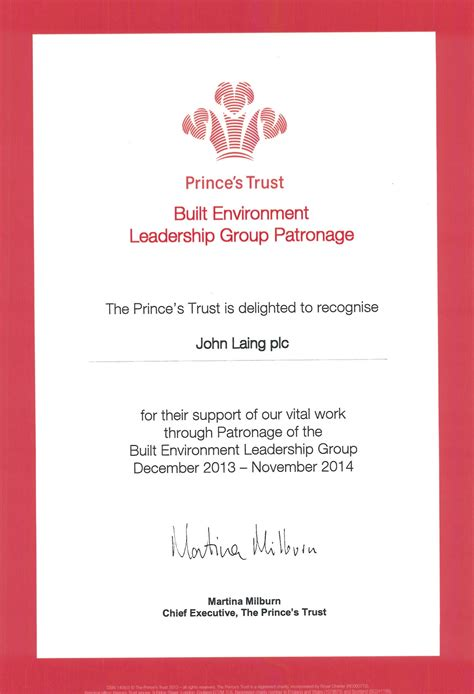 princess trust business plan template laing plc the prince s trust