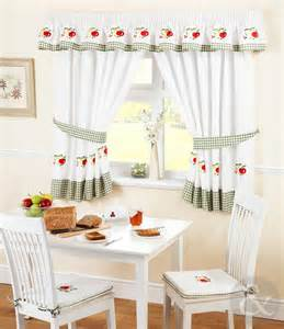 Kitchen Curtains Ready Made Kitchen Curtains Green Ready Made Embroidered Net Curtain Set Ebay