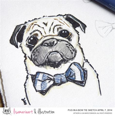 cool drawings of pugs pug sketch bow ties are cool 187 illustration