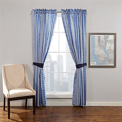 loft window curtains city loft maryn window curtain panel pair in blue bed