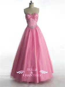 Fairytale pink tulle sequin princess ball gown with sparkling accents