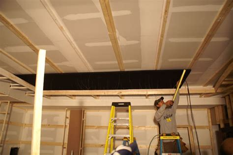 How To Cover A Ceiling With Fabric by Theaterblog Installing The Starfield Ceiling