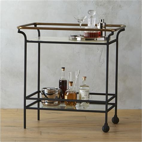 bar carts cavalier marble bar cart cb2