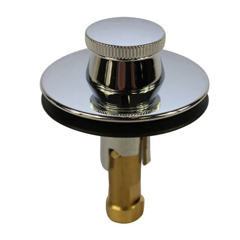 bathtub stopper lift and turn drain stopper in chrome danco