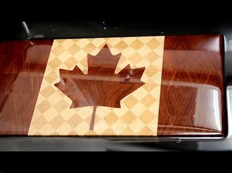 canada woodworking quot canadian flag quot end grain cutting board