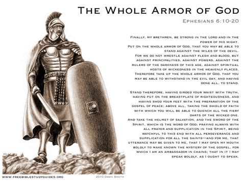 armoir of god put on armor of god verses how to arise out of the pit