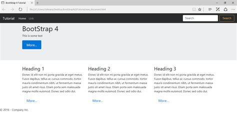 tutorial bootstrap footer bootstrap sle page footer exle