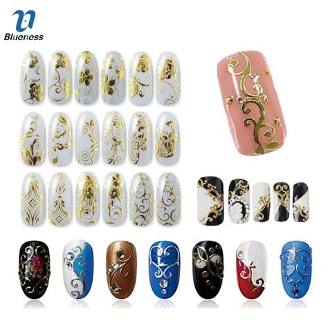Nail Accessories by Gold Silver 3d Nail Stickers Nail Decoration Design