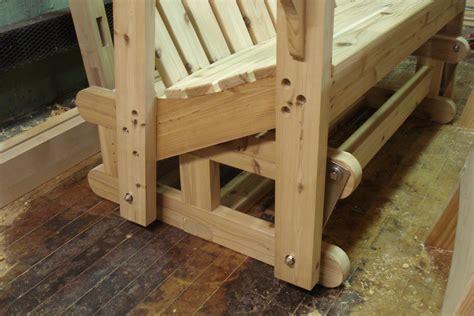 glider bench pt  goods  woodwork