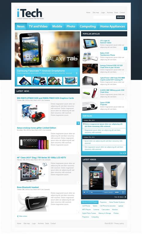 templates for review website electronics review website template web design templates