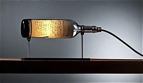 buro no pico elegantes l 225 mparas con botellas de vino recicladas