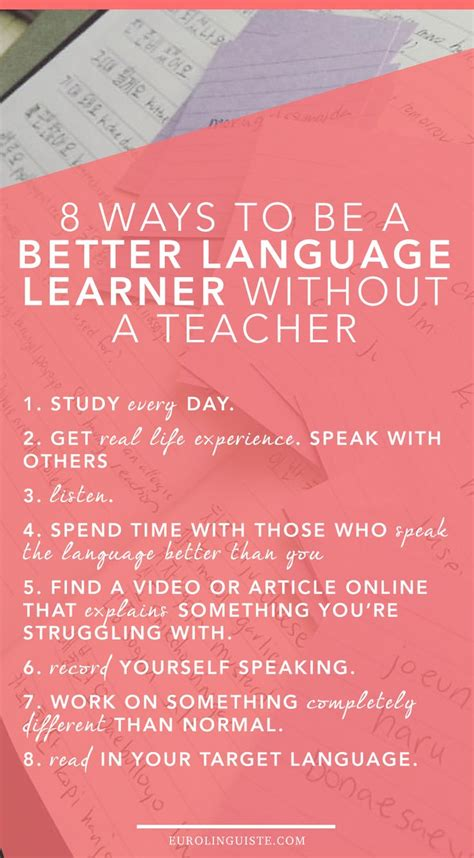 8 Methods To Help You Learn A Language by Best 25 Language Ideas On Learn Learned