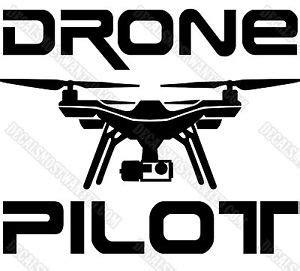 Stiker Drone Pilot 3dr drone decal sticker quot drone pilot quot uav car