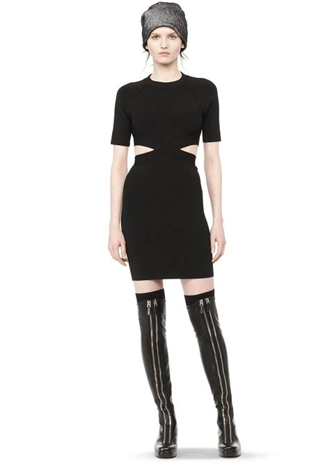 sleeve fitted dress dress wang official site