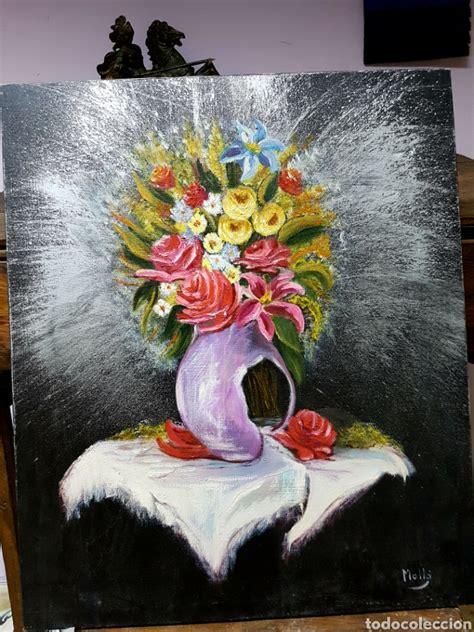 floreros oleo oleo sobre lienzo flores florero sobre fondo comprar
