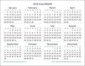 Calendar To 2018 2018 Calendar Quality Calendars