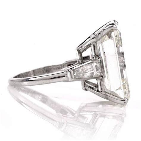 exceptional emerald cut 18 61 carat platinum
