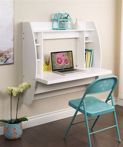 white floating desk white floating storage wall desk zulily love this