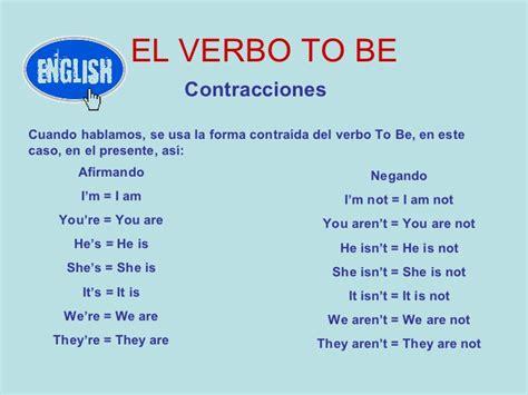 preguntas y respuestas negativas con el verbo to be el verbo to be
