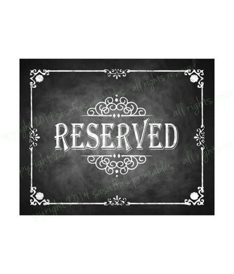 diy chalkboard printable sign reserved chalkboard wedding sign diy by sasafrasprintables