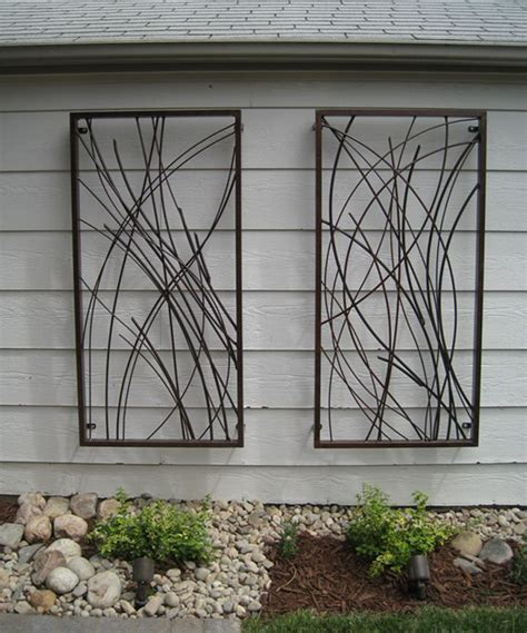 home exterior decorative accents diy metal wall sculpture designs