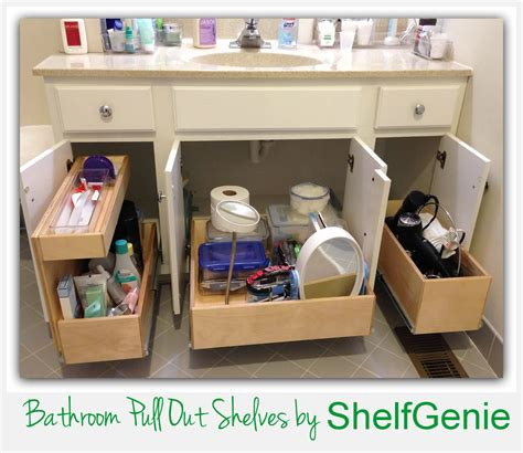 bathroom vanity slide out shelves take of bathroom cabinets with shelfgenie of omaha