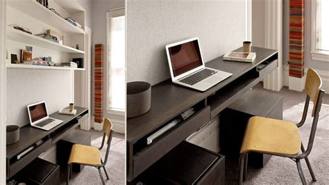 Small Study Desks The Integrated Wood Desk Workspace Small Study Geometric Designs And Desks
