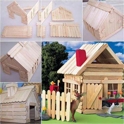 how to make a house how to diy popsicle stick house