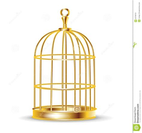 Bird Cage Home Decor golden bird cage stock vector image of trapped shape