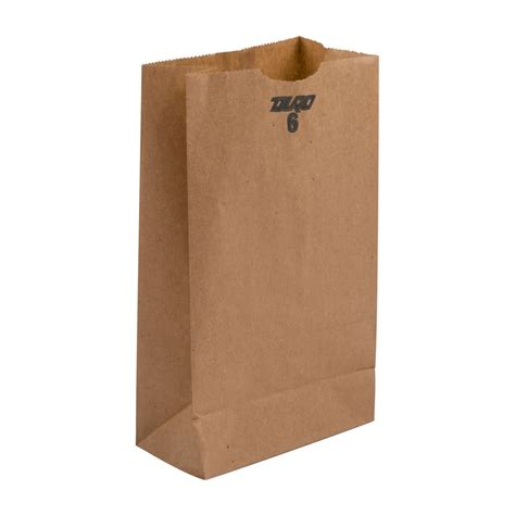 A Paper Bag - 6 lb brown paper bag 500 bundle