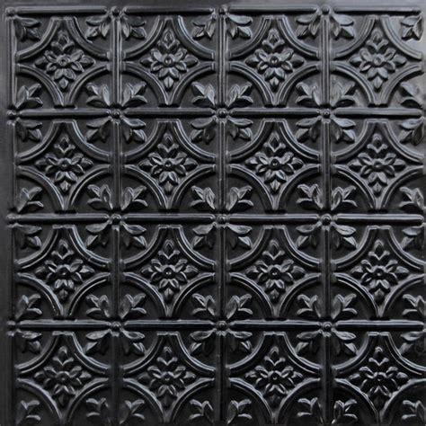 150 faux tin ceiling tile glue up 24x24 black ceiling