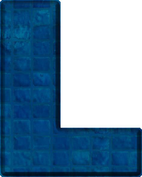 The Blue L by Presentation Alphabets Blue Tile Letter L