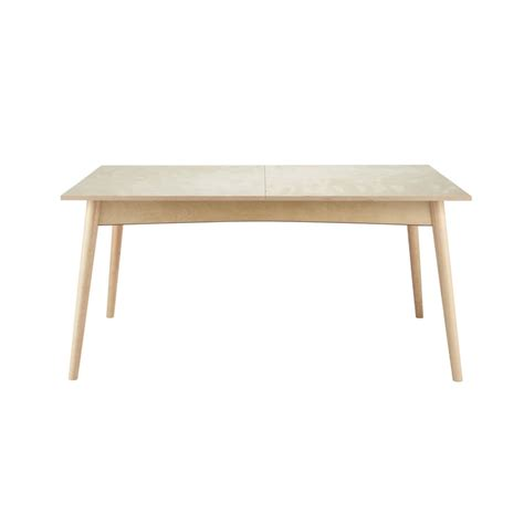 wooden extending dining table w 160cm dekale maisons du
