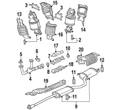 honda odyssey exhaust system diagram honda odyssey exhaust system diagram honda free engine