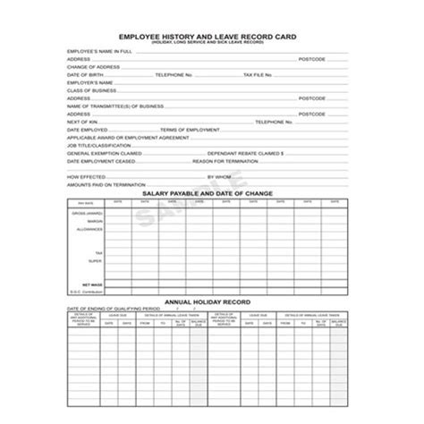 employee leaving card template copyline business books and forms