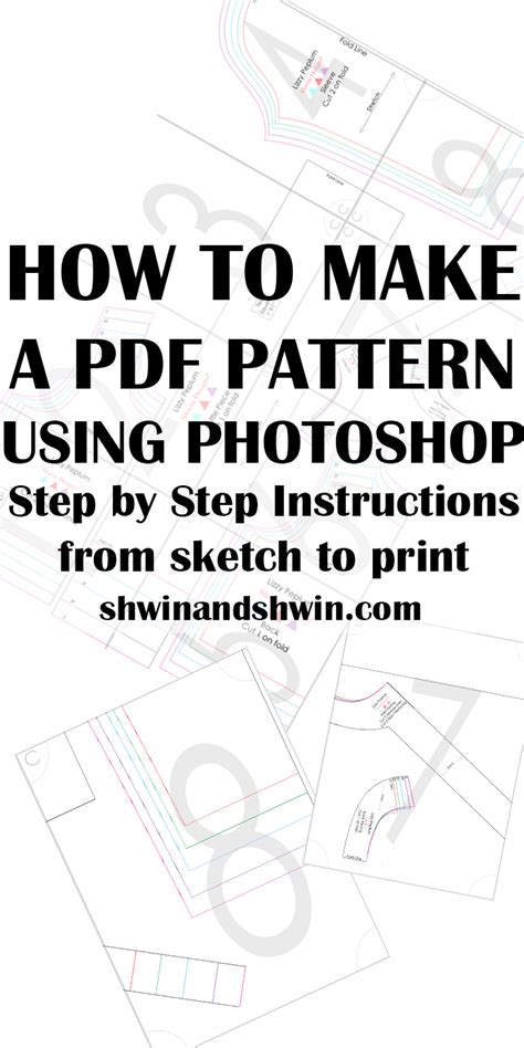 pattern grading books free download how to make a pdf pattern in photoshop sewing