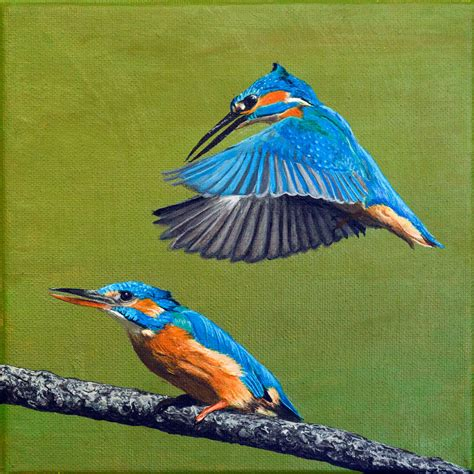 acrylic painting kingfisher kingfisher painting by thrumyeye on deviantart