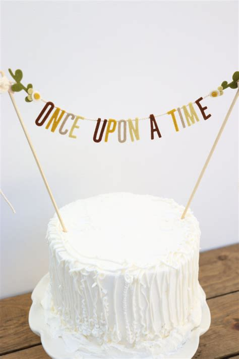 Wedding Cake Banner by Wedding Cake Banner Wedding Cake Topper Once Upon A Time