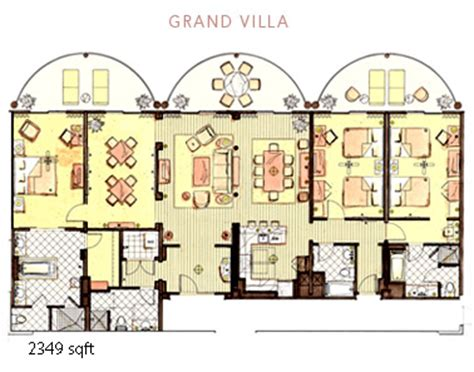 animal kingdom lodge 2 bedroom villa floor plan the villas at disney s animal kingdom lodge