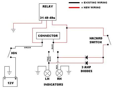 wiring diagram for motorcycle hazard lights php wiring