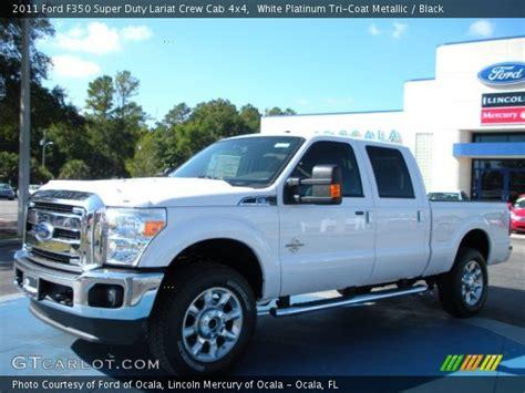 2013 ford f350 platinum white tri coat lariat dually