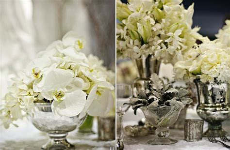 Flower Wedding Reception Centerpieces by White Wedding Flowers Winter Wedding Reception