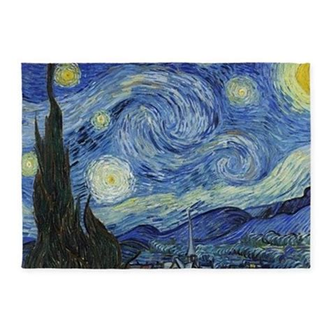gogh rug gogh s starry 5 x7 area rug by listing store 55628460