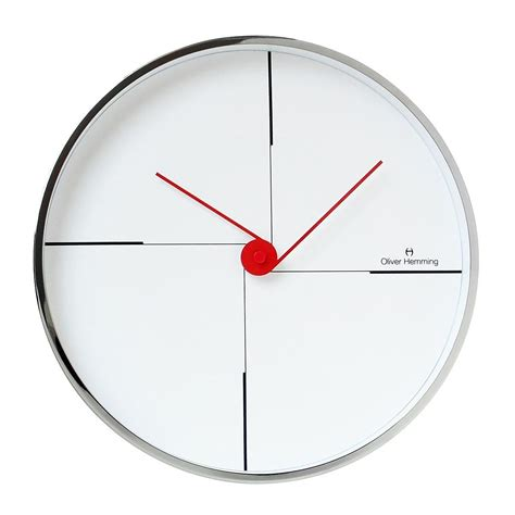 design wall clock wall clock w300s9w by oliver hemming design is this