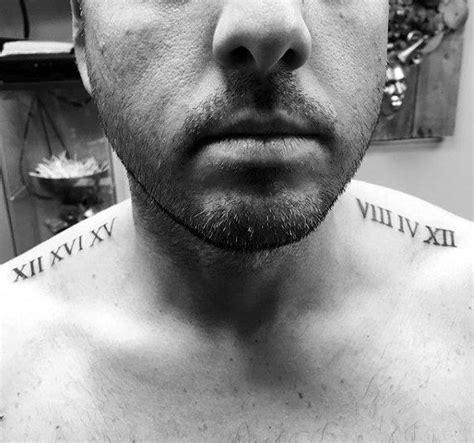 11 roman numerals collar bone 100 numeral tattoos for manly numerical ink