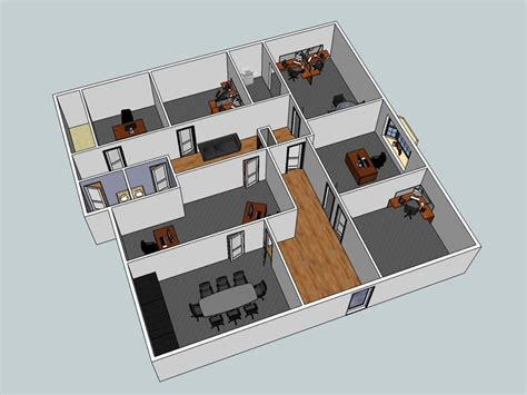 3d office floor plan 3d layout exles wny office space