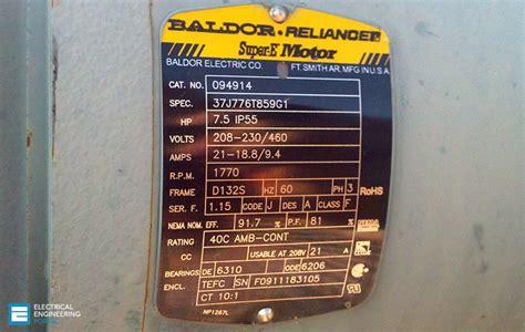 baldor motor nameplate wiring diagram electric motor
