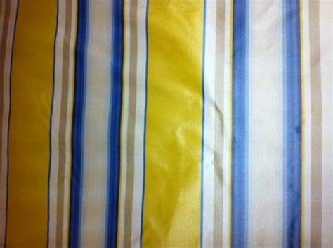 striped silk fabric for curtains silk taffeta butter yellow ivory gold blue vertical