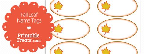 printable autumn name tags fall leaf name tags printable treats com
