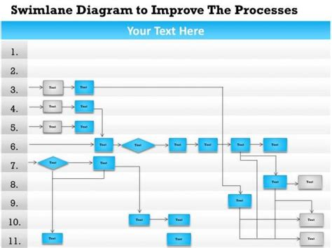 swim diagram template powerpoint swimlane diagram in powerpoint choice image how to guide